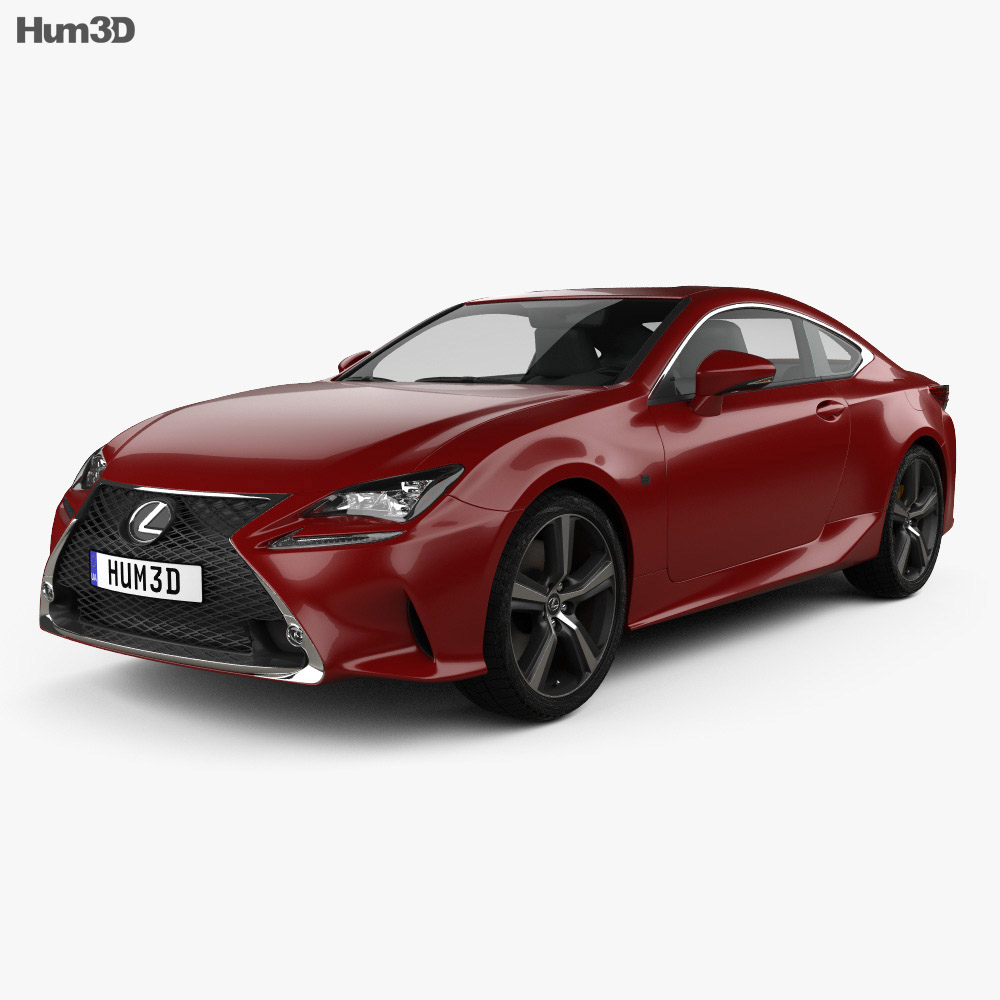 Lexus RC 200t 2016 3d model