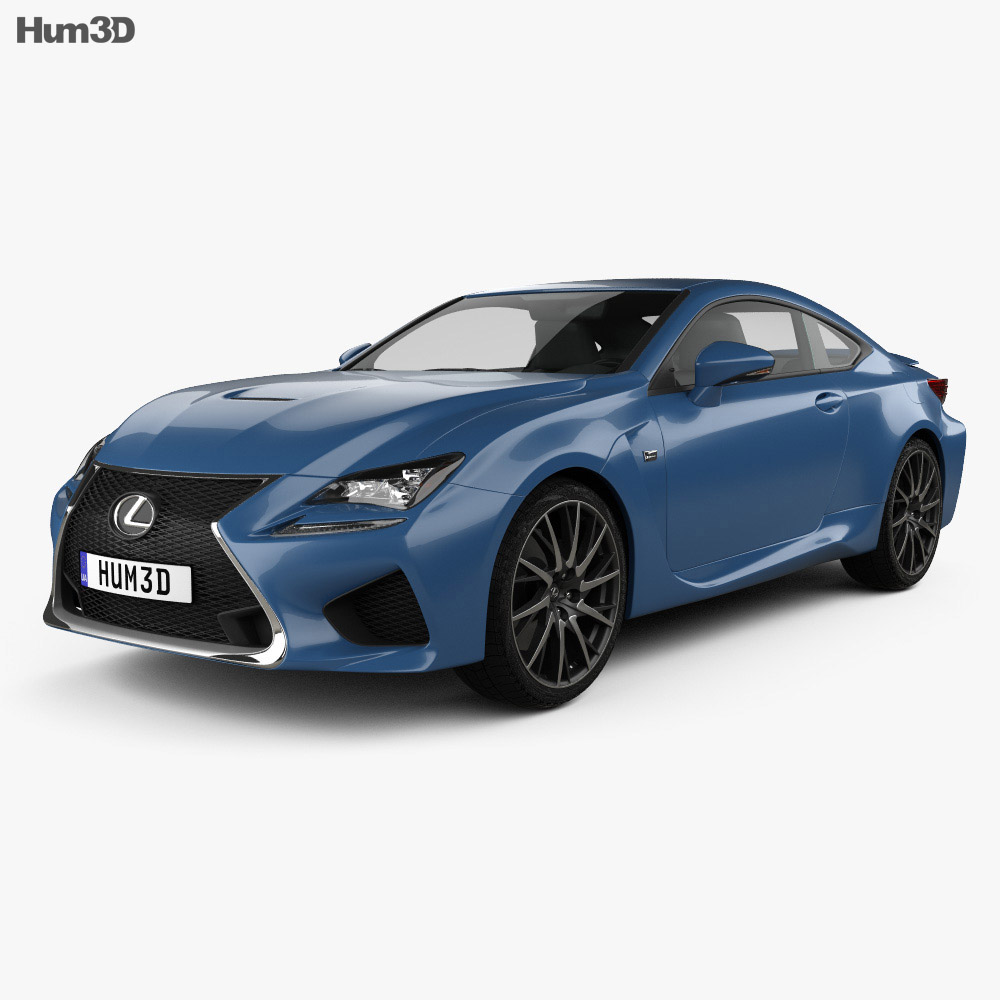 Lexus RC F 2014 3d model