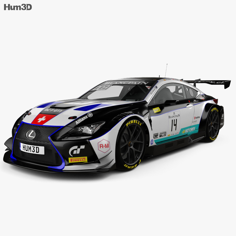 Lexus RC F GT3 2017 3d model