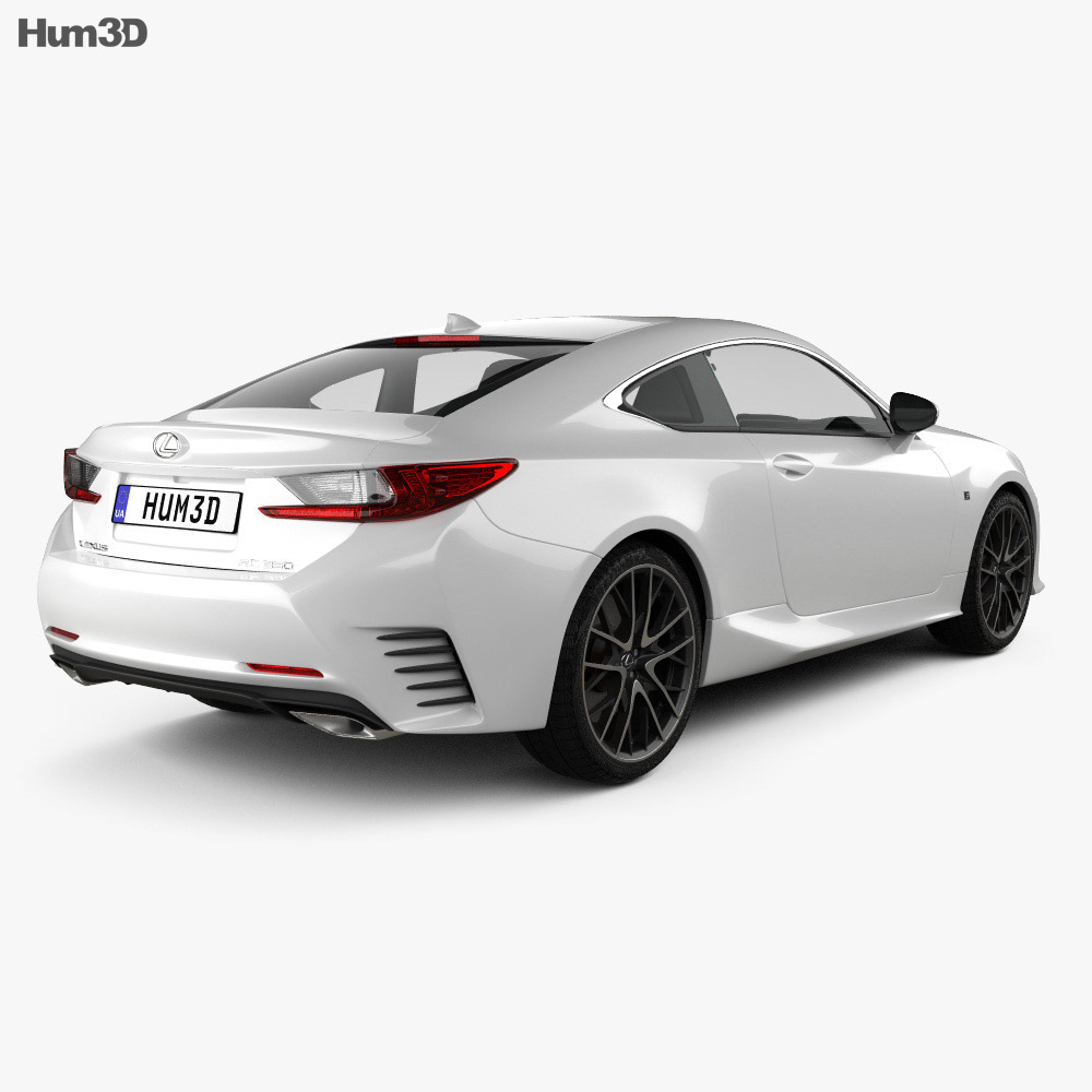 Lexus RC F Sport 2018 3d model