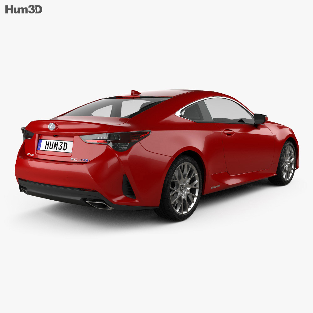 Lexus RC hybrid 2019 3d model
