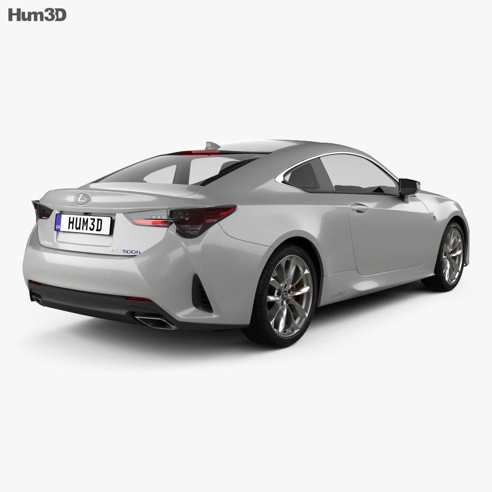 Lexus RC hybrid F-sport 2018 3d model