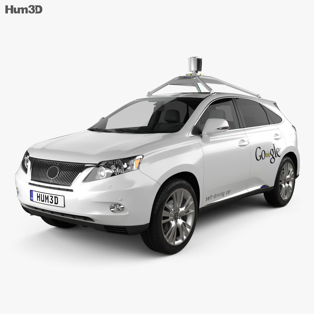 Lexus RX Google Self-driving 2013 3d model
