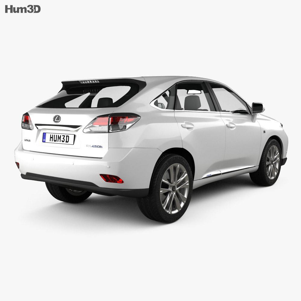 Lexus RX F sport hybrid 2012 3d model