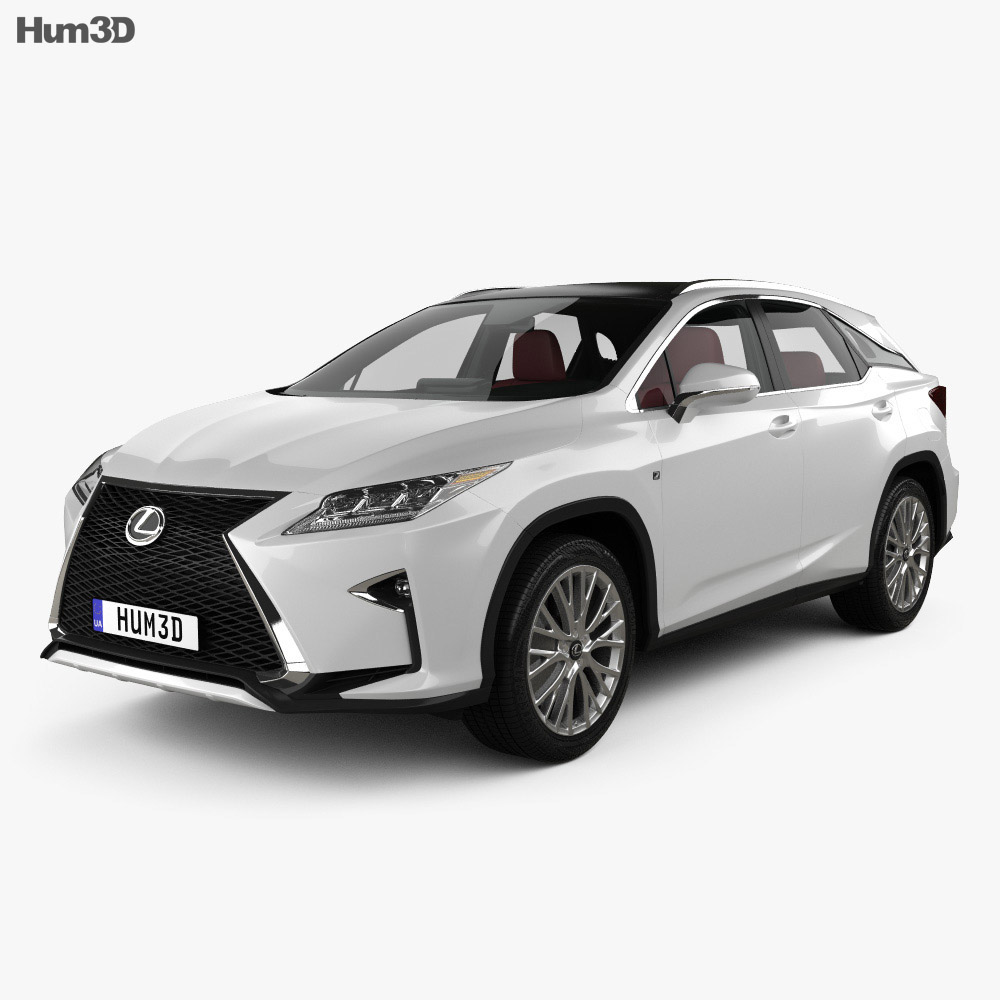 Lexus RX F sport with HQ interior 2016 3d model