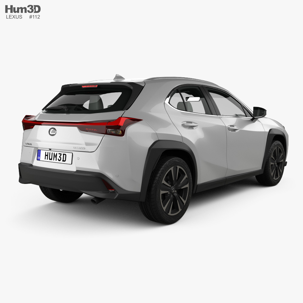 Lexus UX with HQ interior 2018 3d model