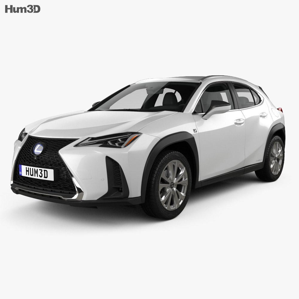 Lexus Sport: Lexus UX Hybrid F-Sport 2018 3D Model