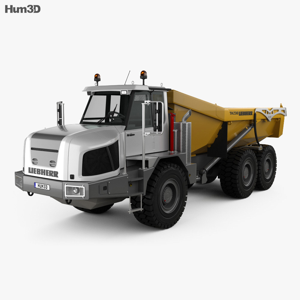 Liebherr TA 230 Litronic Dump Truck 2010 3d model