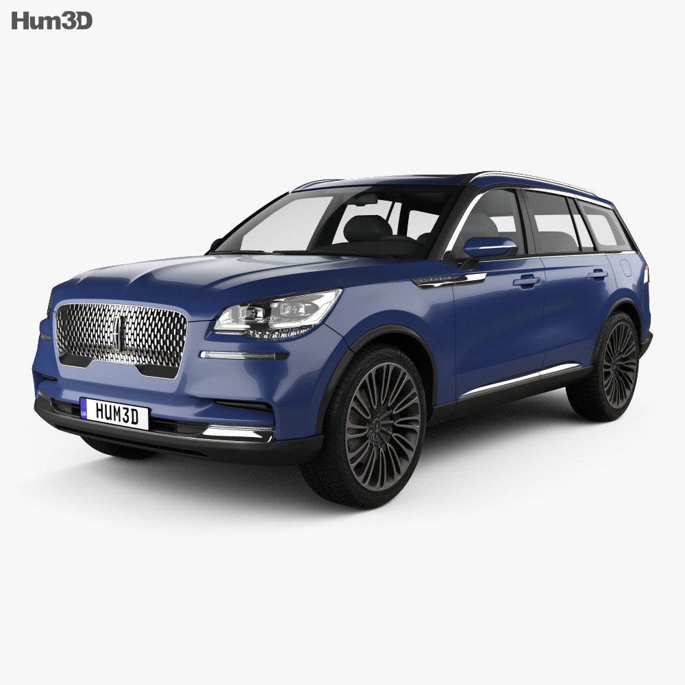 Lincoln Aviator 2018 3d model