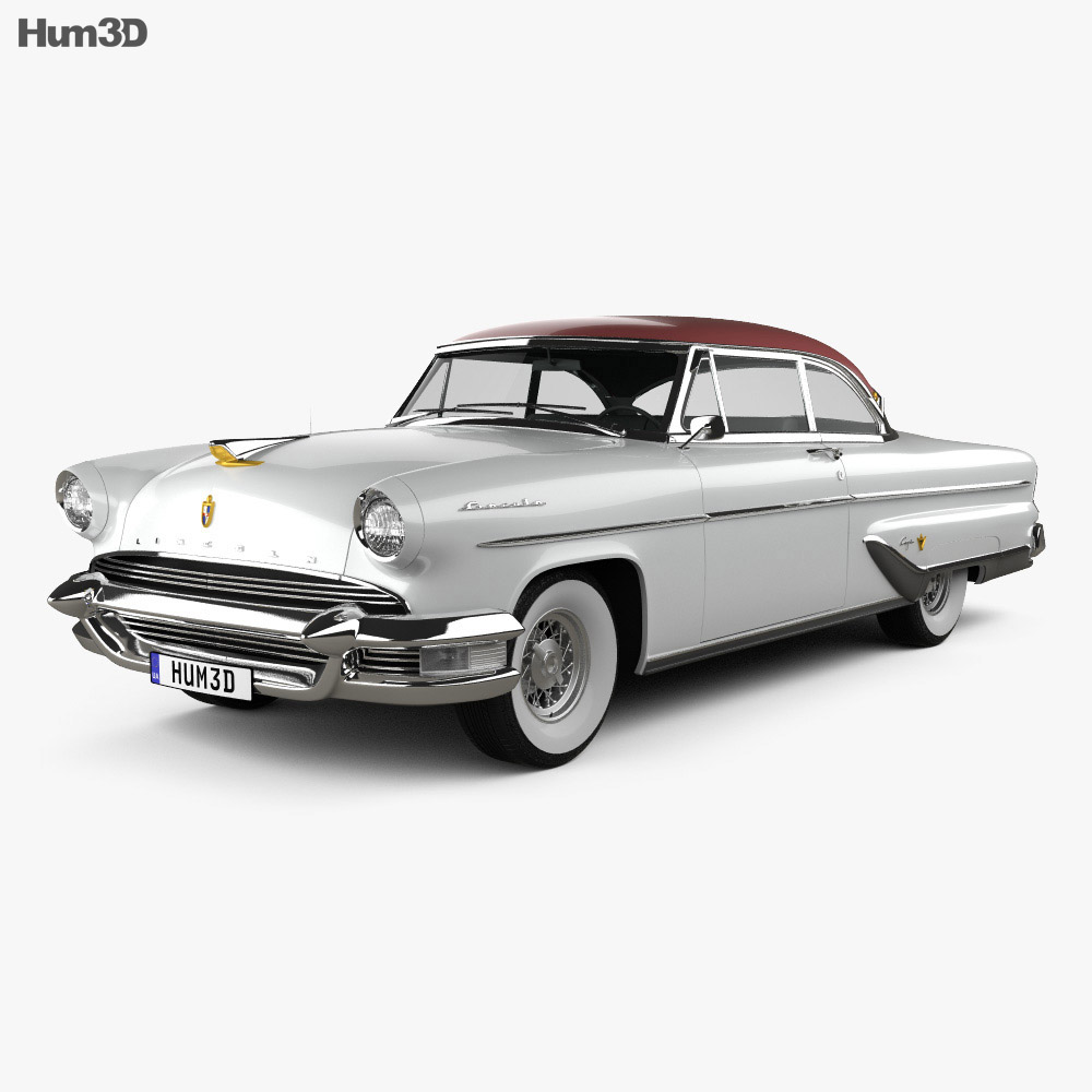 Lincoln Capri Hardtop Coupe 1955 3d model