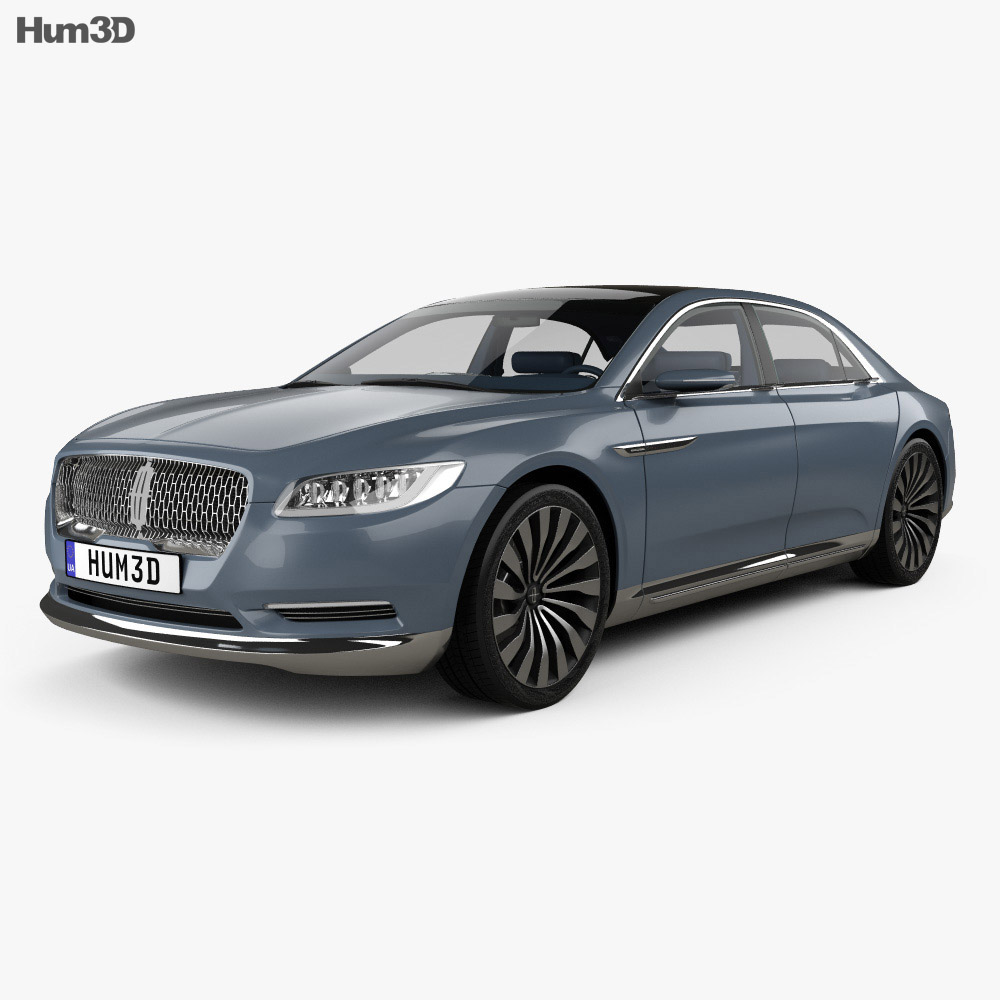 lincoln continental with hq interior 2015 3d model hum3d. Black Bedroom Furniture Sets. Home Design Ideas