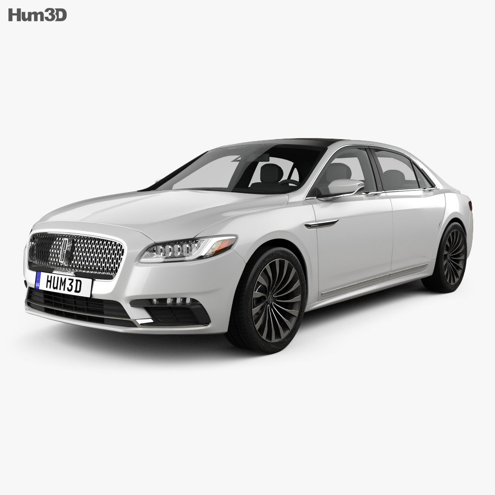 2016 Lincoln Cars: Lincoln Continental 2017 3D Model