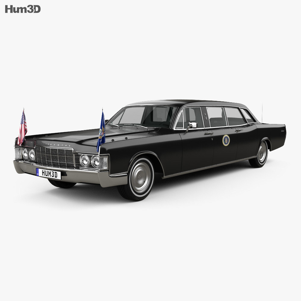 Lincoln Continental US Presidential State Car 1969 3d model