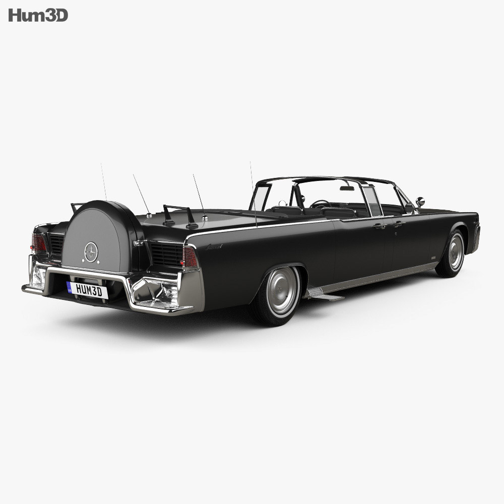 Lincoln Continental X-100 1961 3d model back view
