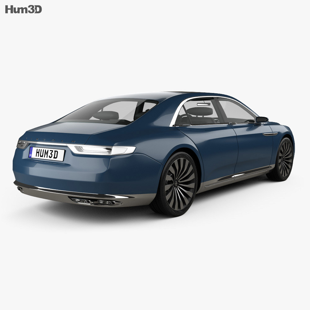 Lincoln Continental 2015 3d model