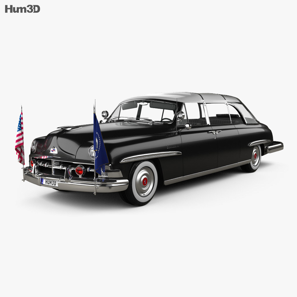 Discount Car Parts >> Lincoln Cosmopolitan Presidential Limousine 1950 3D model - Hum3D