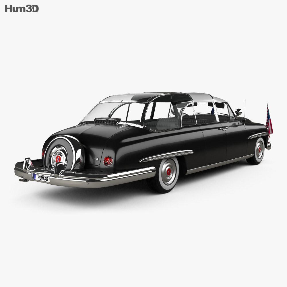 Lincoln Cosmopolitan Presidential Limousine 1950 3d model back view