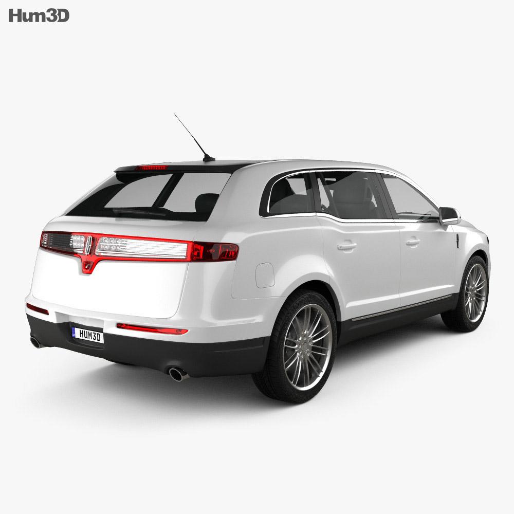 Lincoln MKT 2013 3d model back view