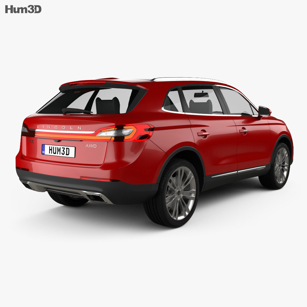 Lincoln MKX 2016 3d model