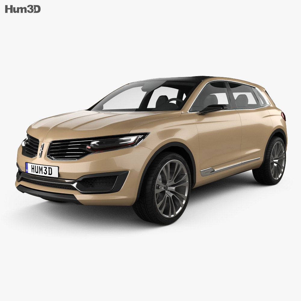 Lincoln MKX 2014 3d model