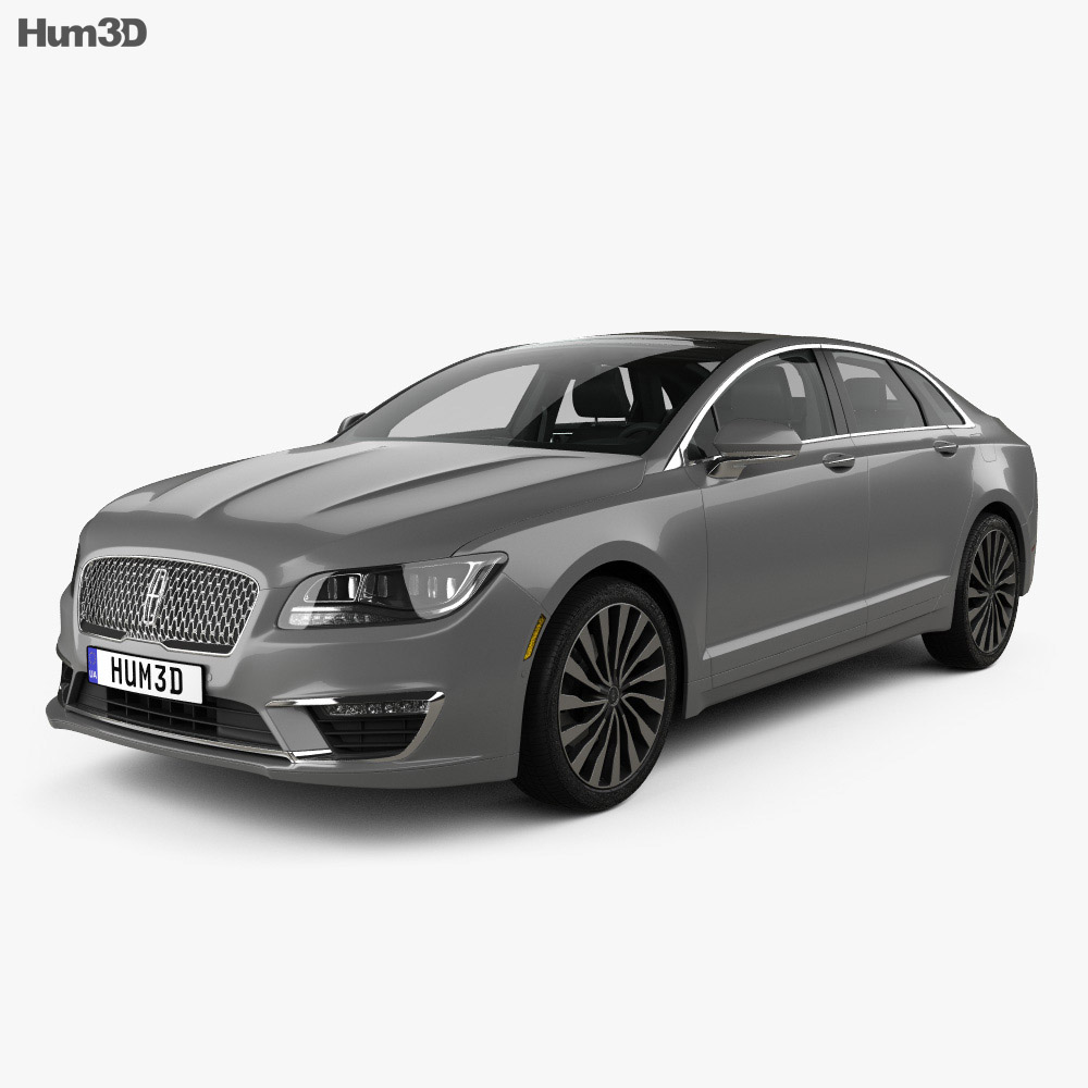 2016 Lincoln Cars: Lincoln MKZ With HQ Interior 2017 3D Model