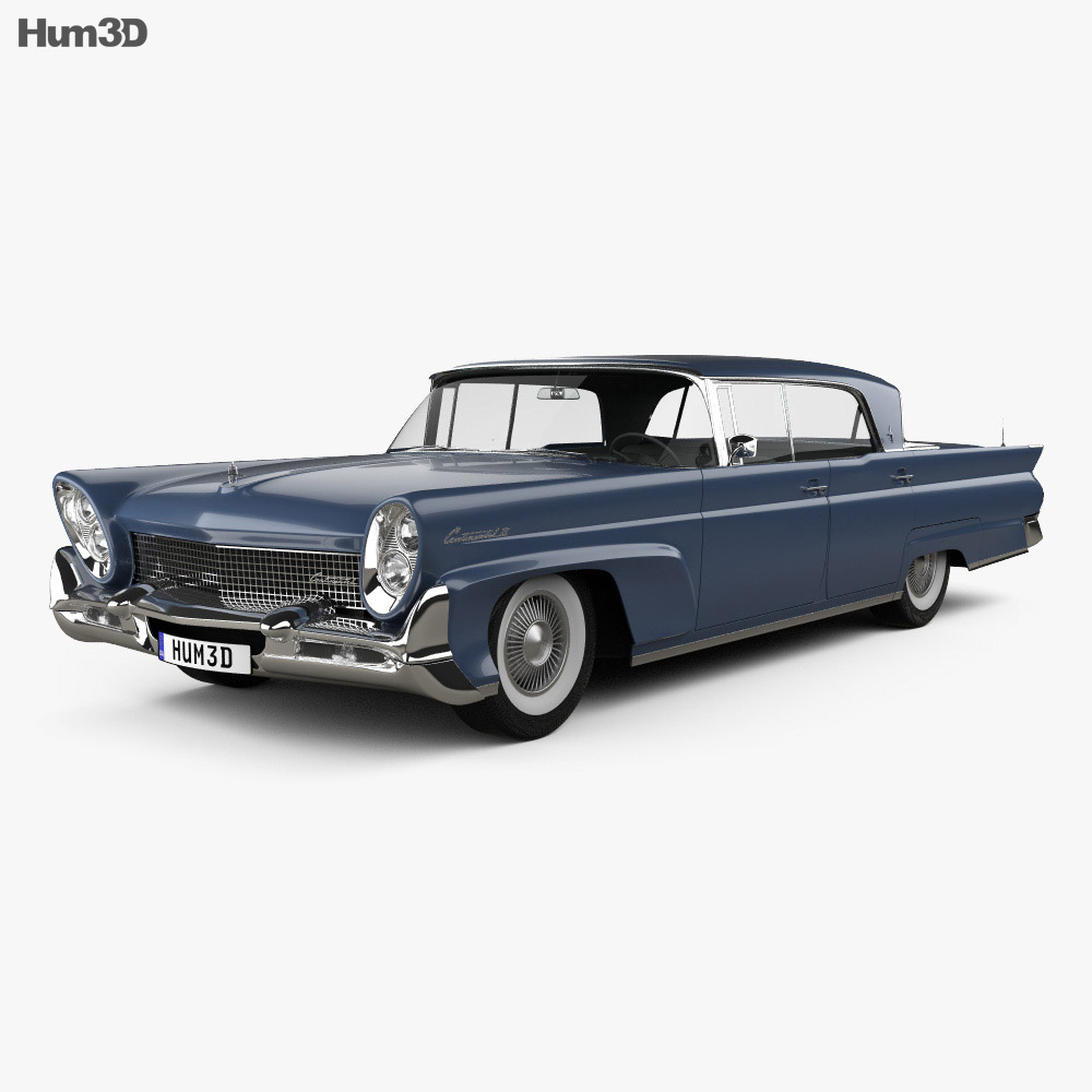 Lincoln Continental Mark III Landau 1958 3d model