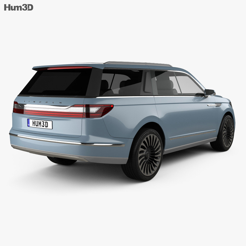 Lincoln Navigator 2016 3d model