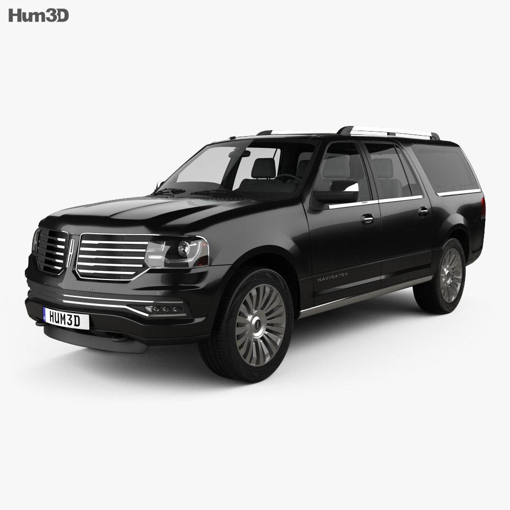 lincoln navigator l 2014 3d model hum3d. Black Bedroom Furniture Sets. Home Design Ideas