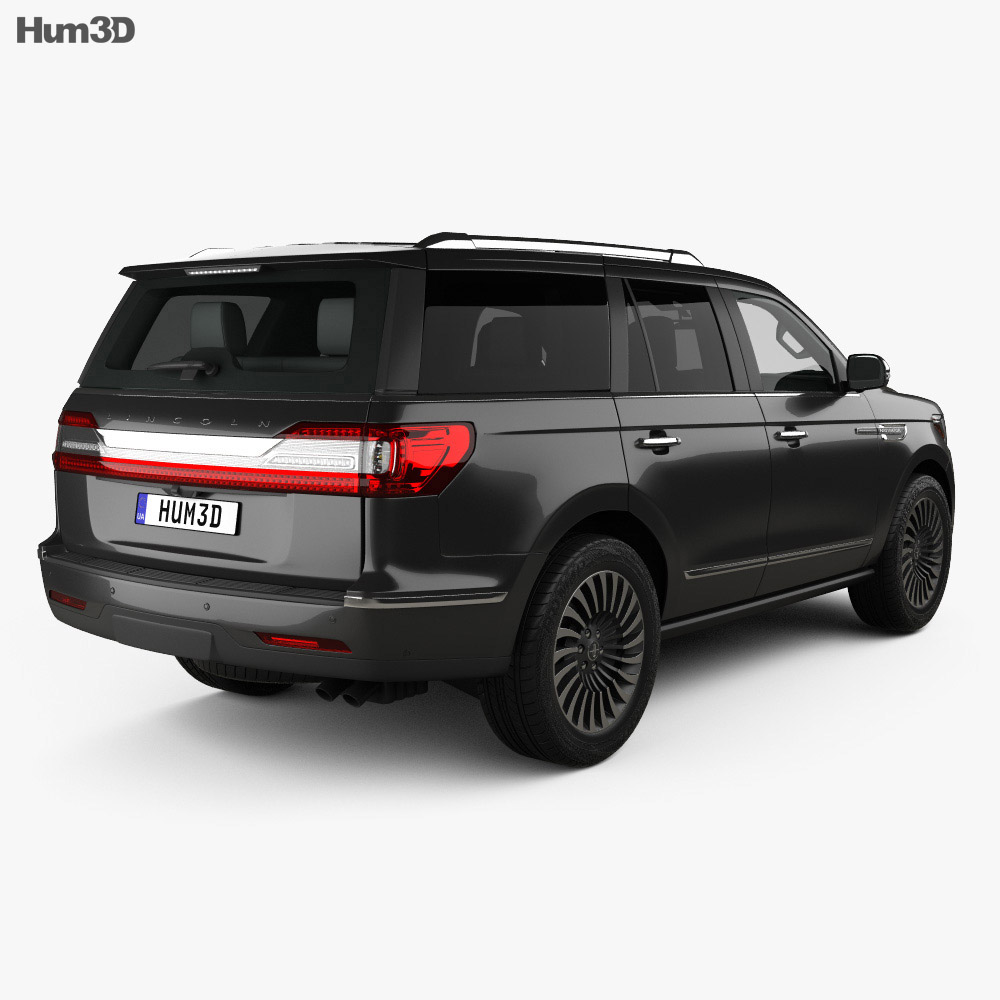 Lincoln Navigator Black Label 2017 3d model