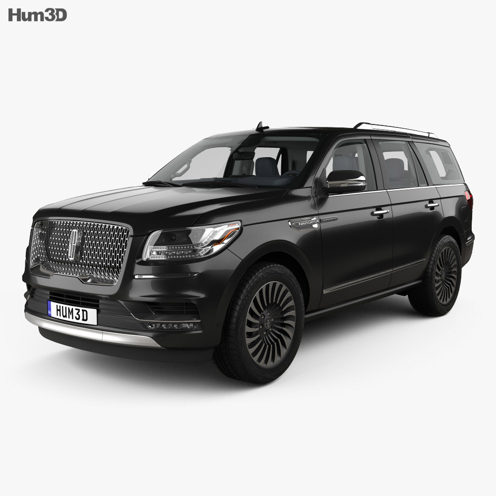 Lincoln Navigator Black Label with HQ interior 2017 3d model