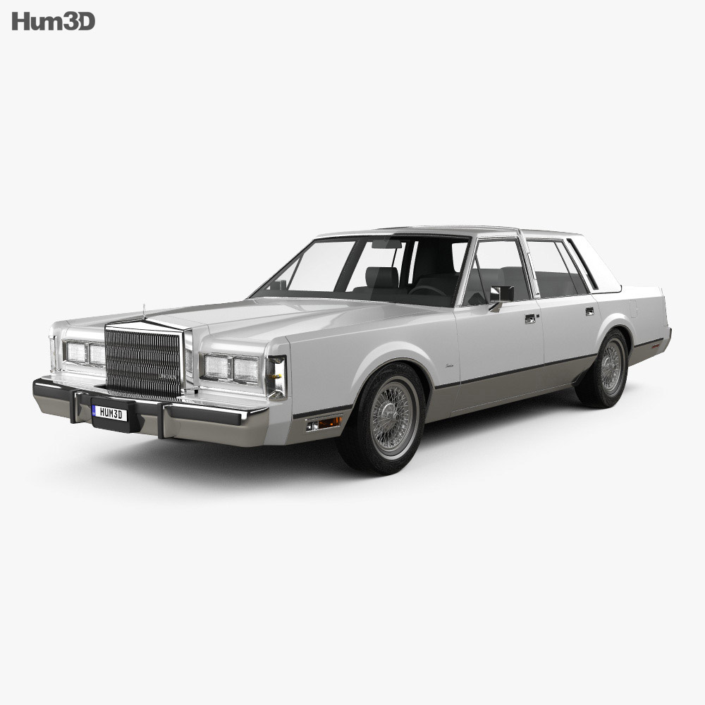 lincoln town car 1989 3d model hum3d. Black Bedroom Furniture Sets. Home Design Ideas