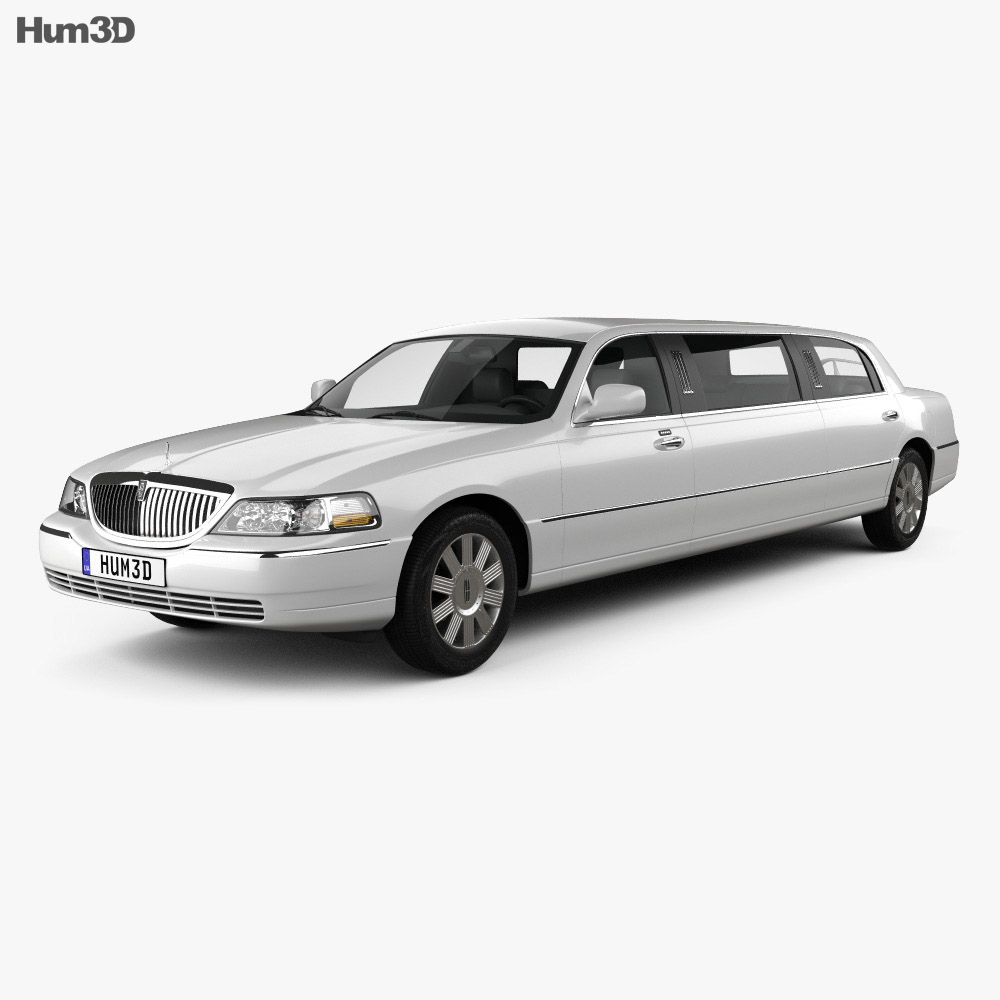 Lincoln Town Car Limousine 2011 3d Model Vehicles On Hum3d
