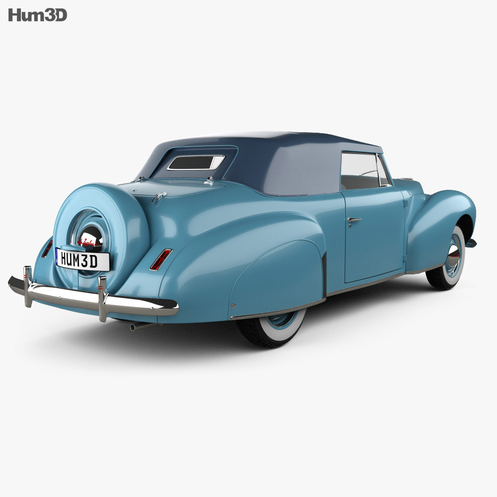 Lincoln Zephyr Continental Cabriolet 1939 3d model