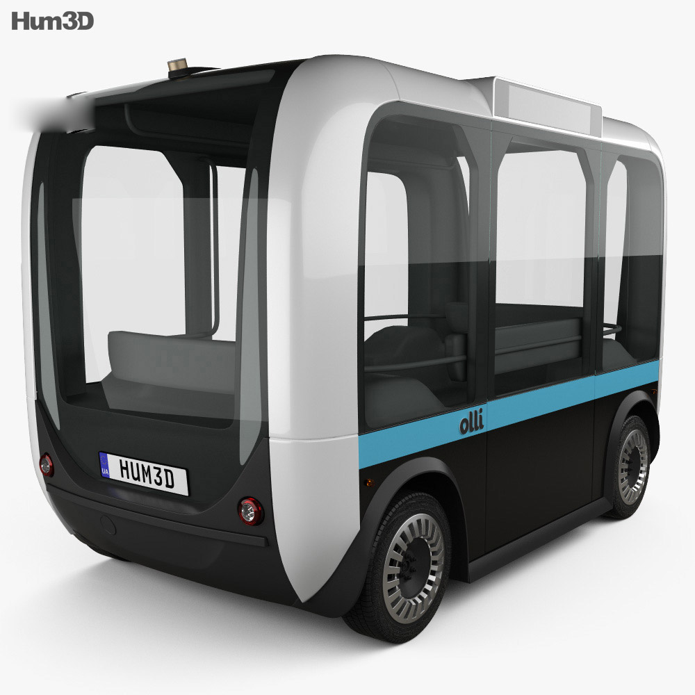 Local Motors Olli Bus 2016 3d model