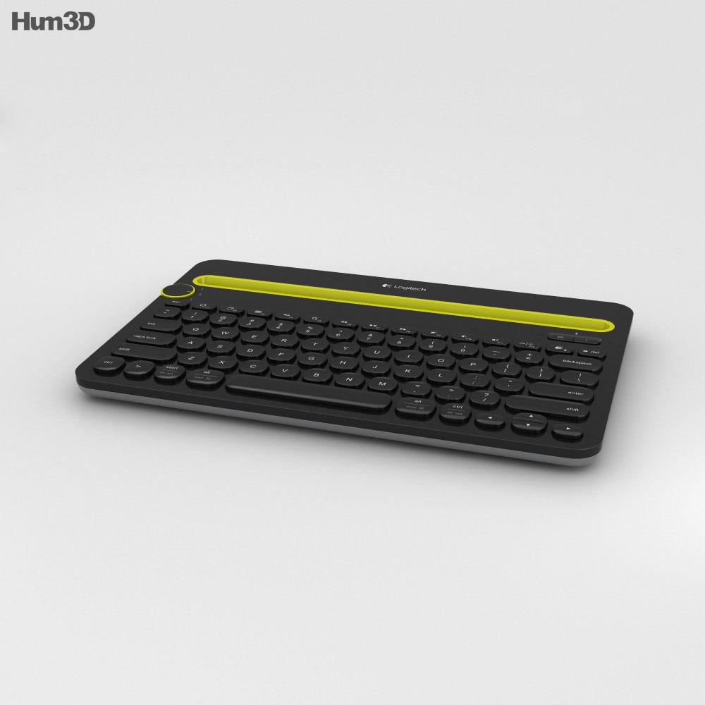 Logitech K480 Black 3d model