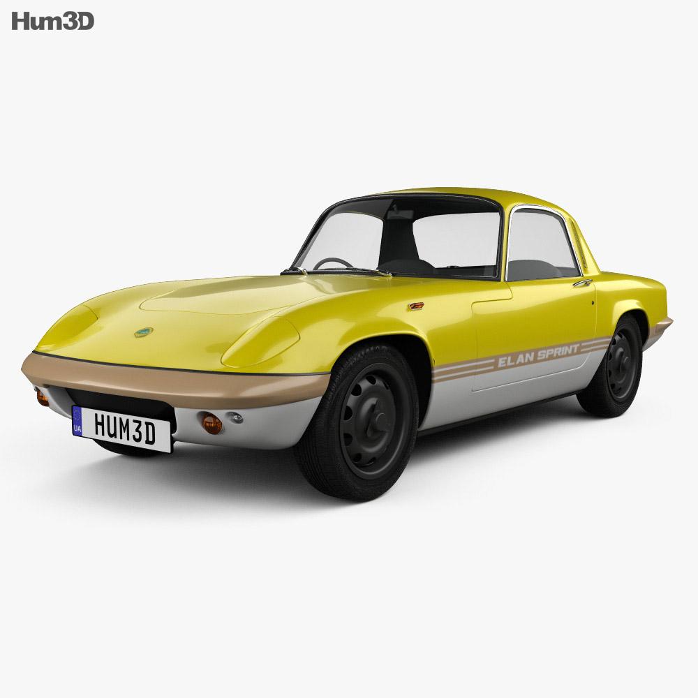 Lotus Elan Sprint Fixed-head Coupe 1971 3d model