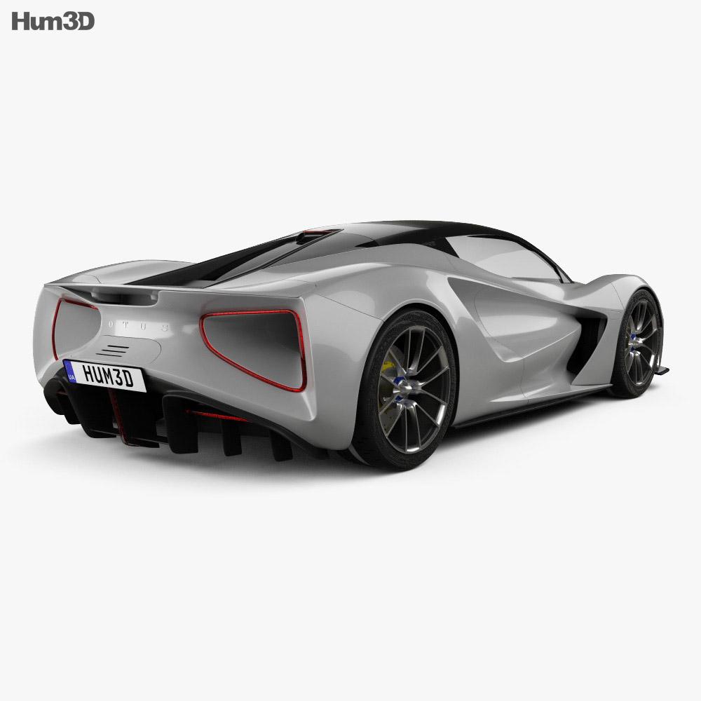 Lotus Evija 2020 3d model