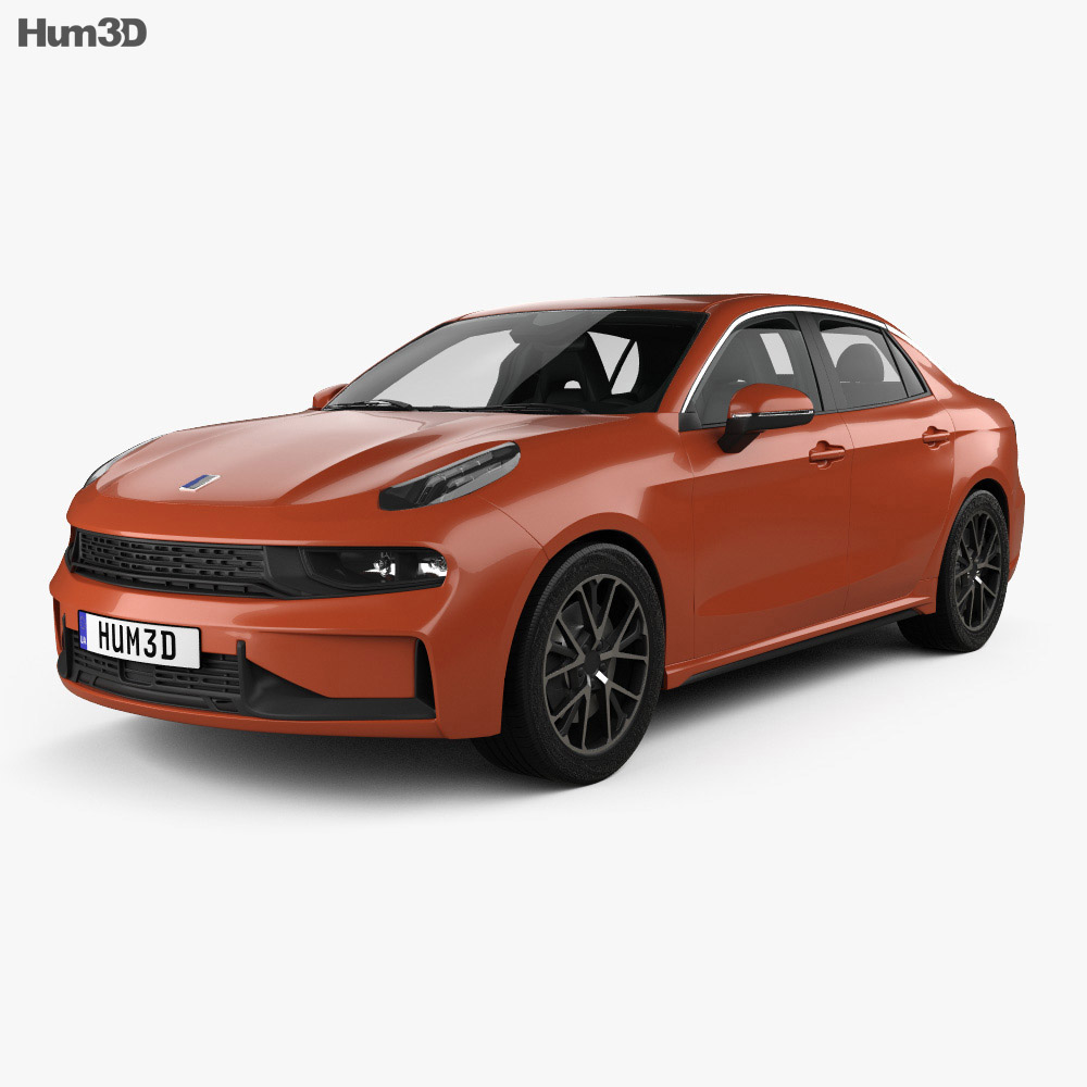Lynk & Co 03 with HQ interior 2018 3d model