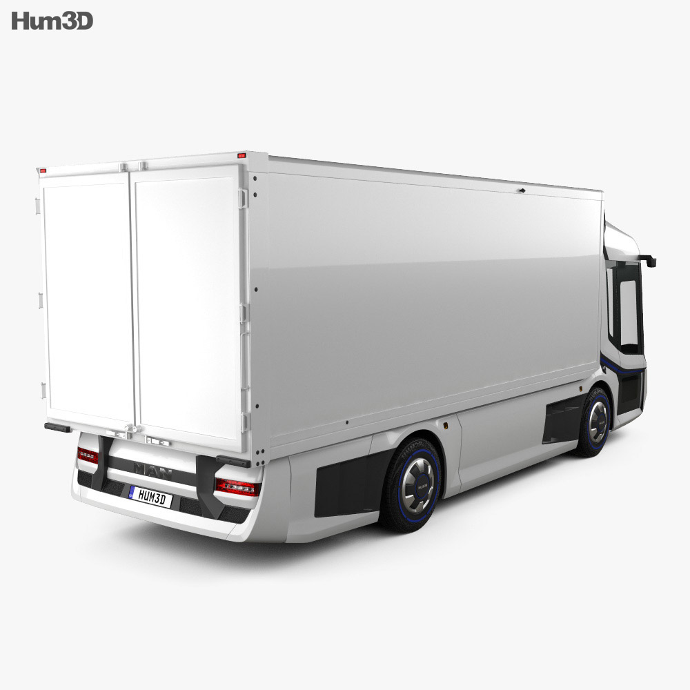 MAN CitE Box Truck 2018 3d model