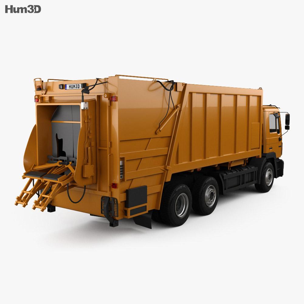 MAN F2000 Garbage Truck 1990 3d model