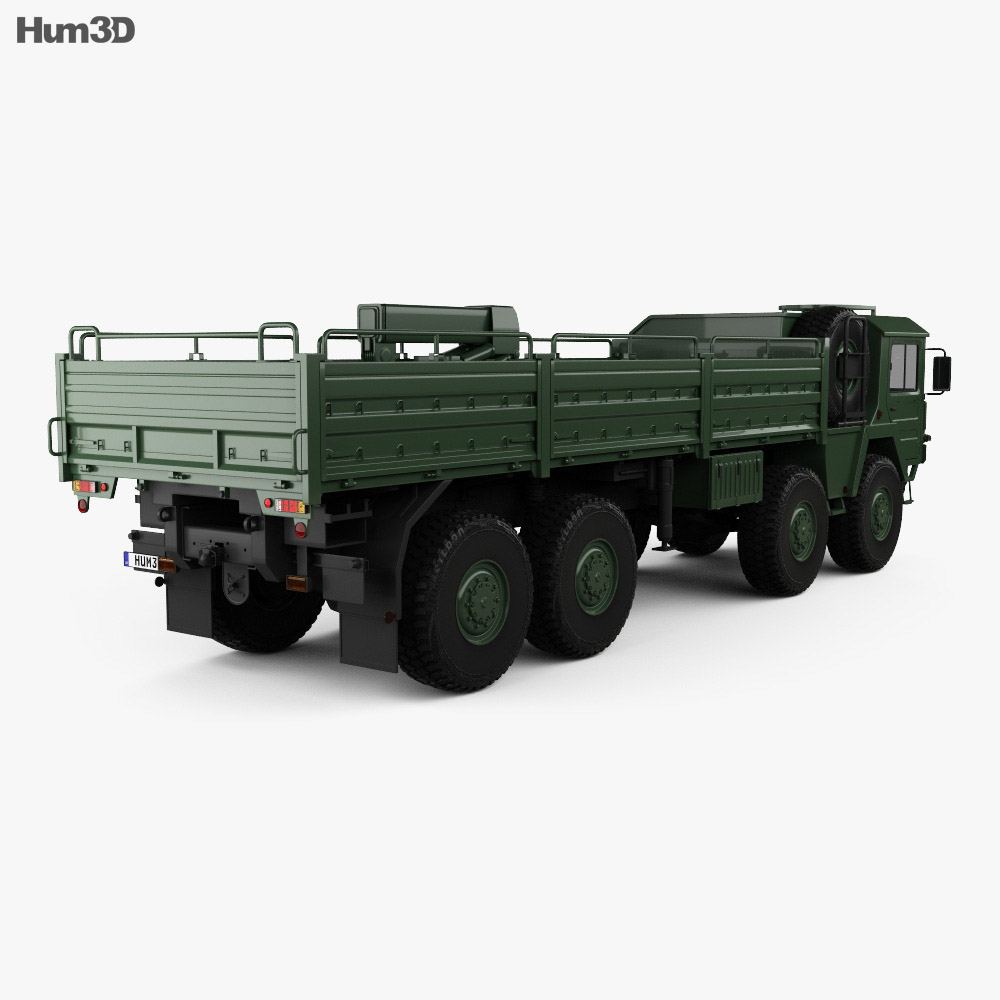 MAN KAT I Military Flatbed Truck 4-axle 1976 3d model