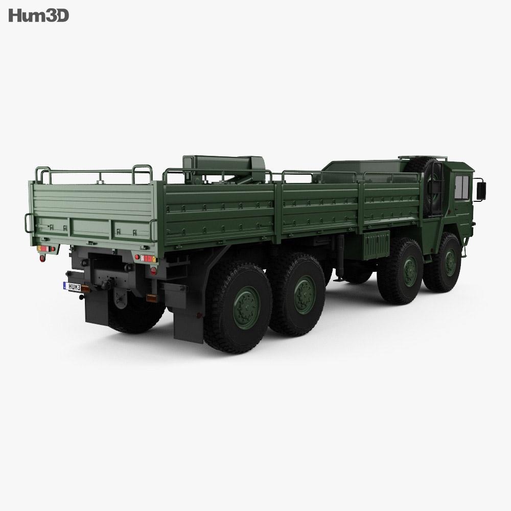 MAN KAT I Military Flatbed Truck 4-axle 1976 3d model