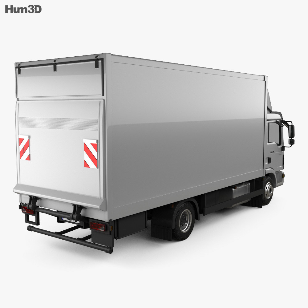 MAN TGL Box Truck 2012 3d model