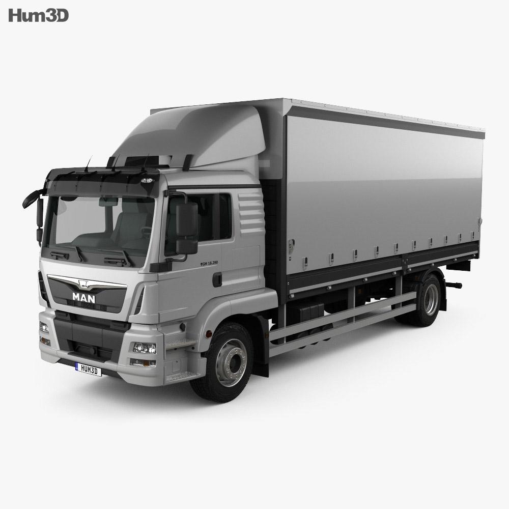 MAN TGM Box Truck 2012 3d model