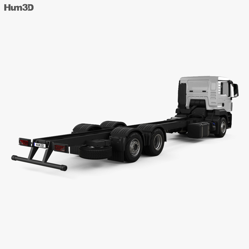 MAN TGS Chassis Truck 2012 3d model
