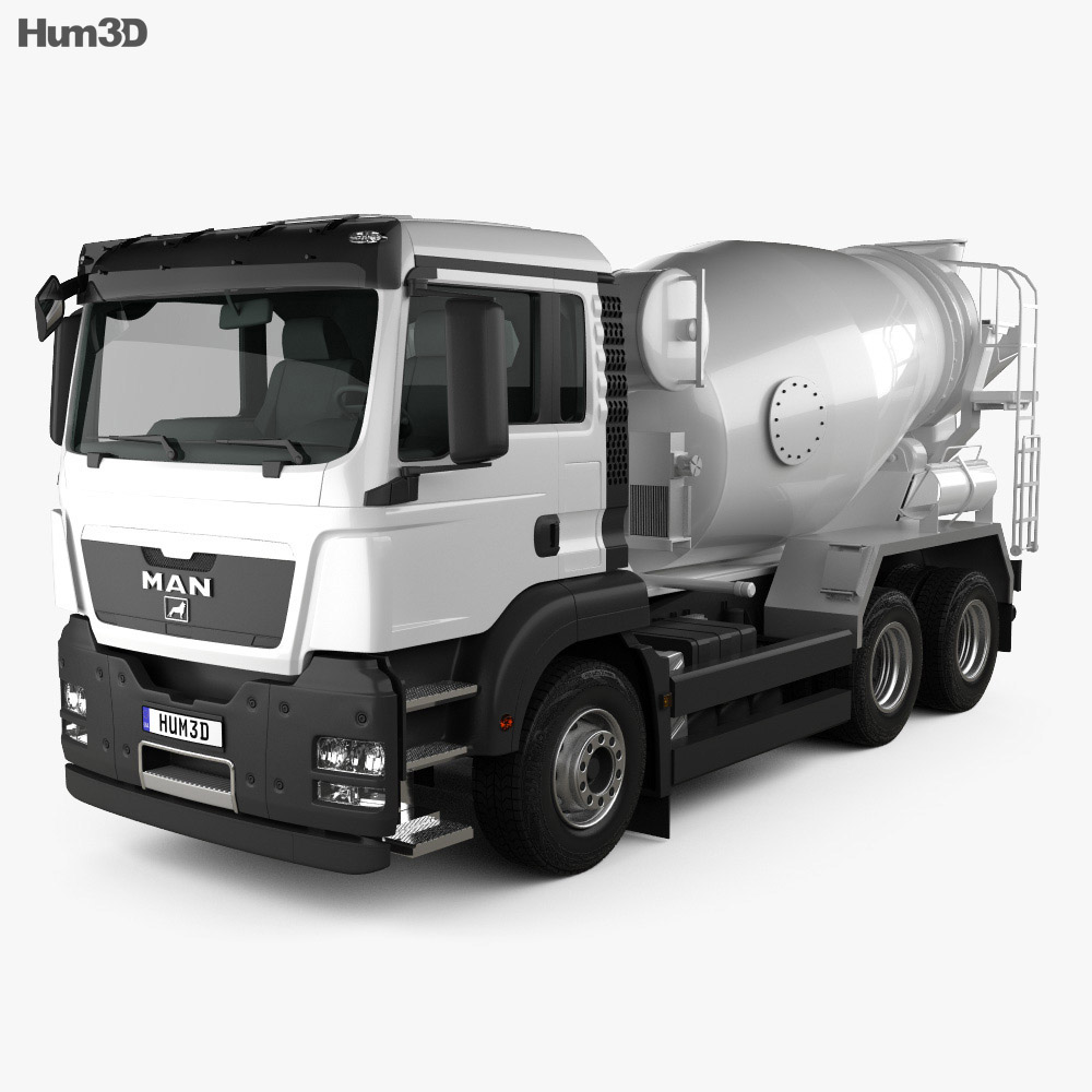 MAN TGS Mixer Truck 2012 3d model