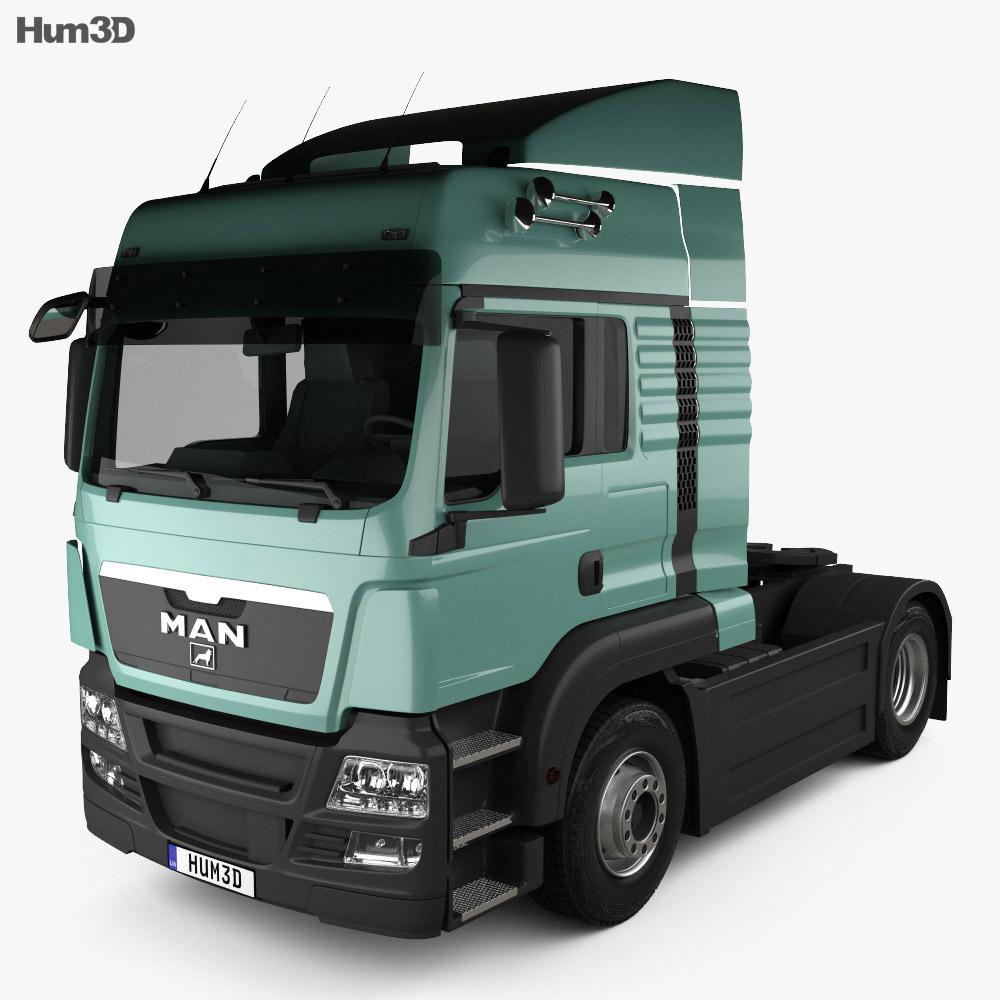 MAN TGS Tractor Truck 2-axle 2012 3d model