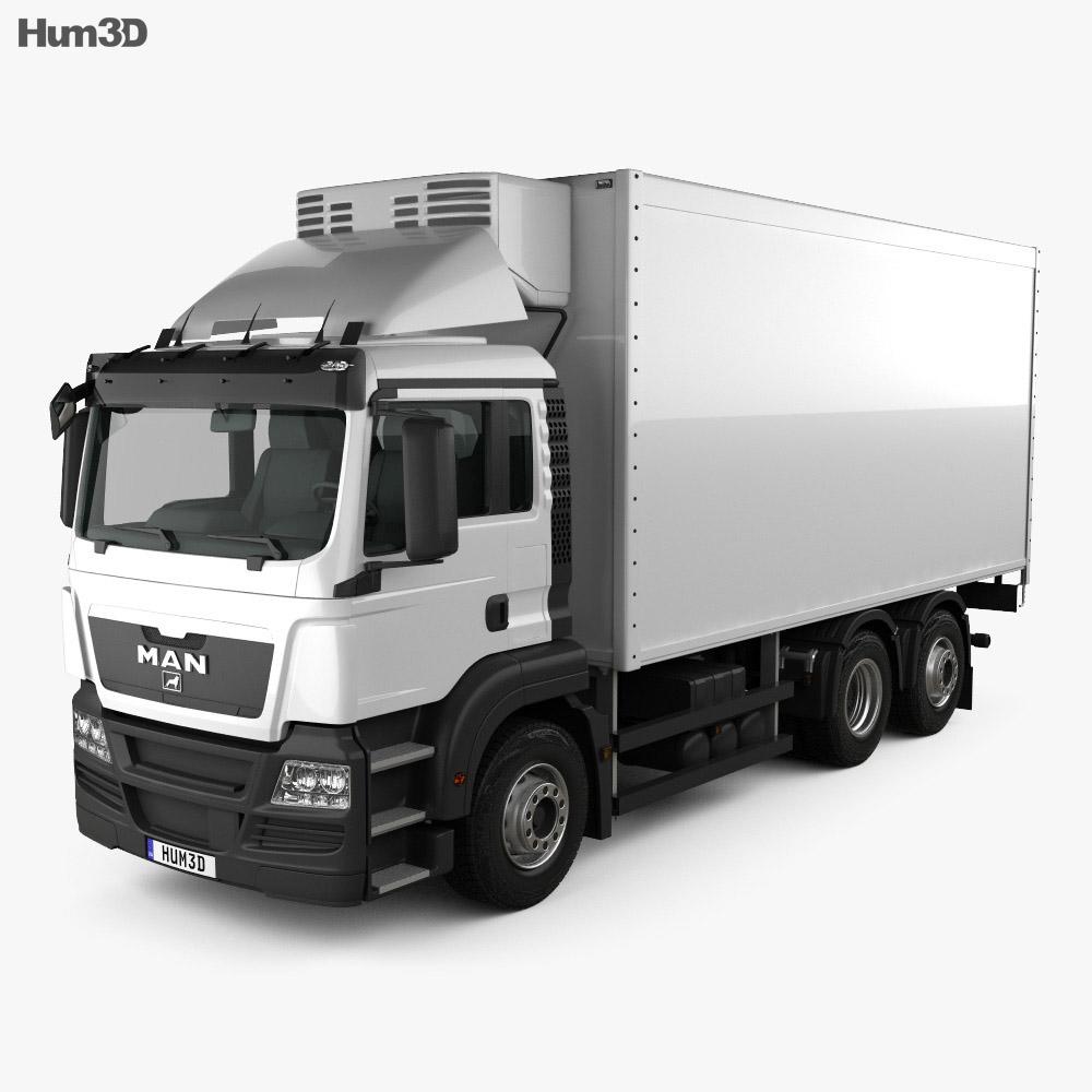 MAN TGS Refrigerator Truck 2012 3d model