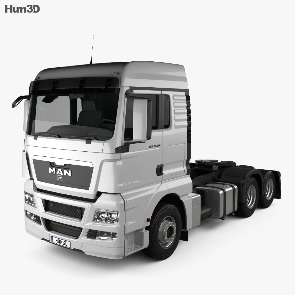 MAN TGX Tractor Truck 3-axle 2012 3d model