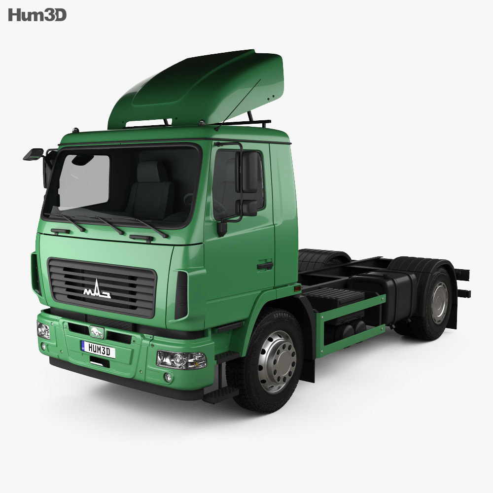 MAZ 5340 M4 Chassis Truck 2015 3d model